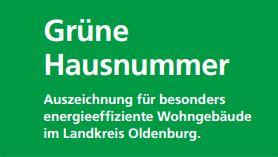 Grüne Hausnummer©Landkreis Oldenburg